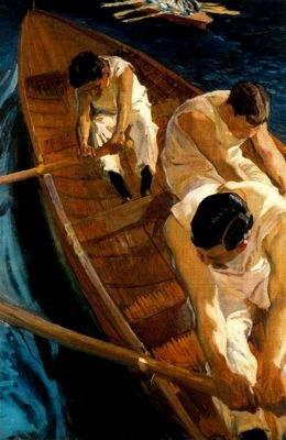 Joaquin Sorolla y Bastida En la yola (Zarauz), 1910