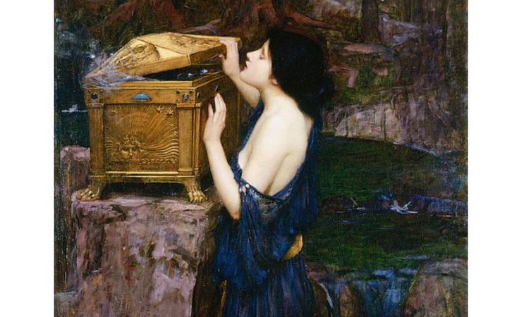 'Pandora' by John William Waterhouse, 1896.   Pandora, the Goddess who Unleashed both Hell and Hope upon Humanity  Read more: http://www.ancient-origins.net/human-origins-folklore/pandora-goddess-who-unleashed-both-hell-and-hope-upon-humanity-002902#ixzz3XL0C9Bgy  Follow us: @ancientorigins on Twitter   ancientoriginsweb on Facebook