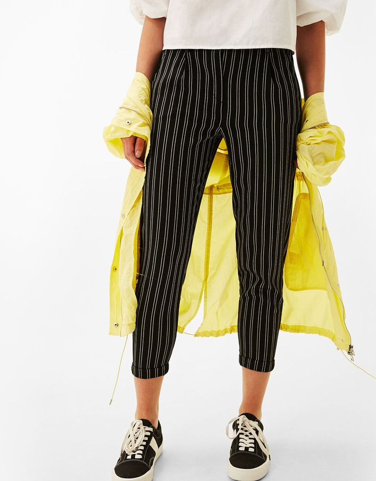 Tailored joggers with pleats. Discover this and many more items in Bershka with new products every week