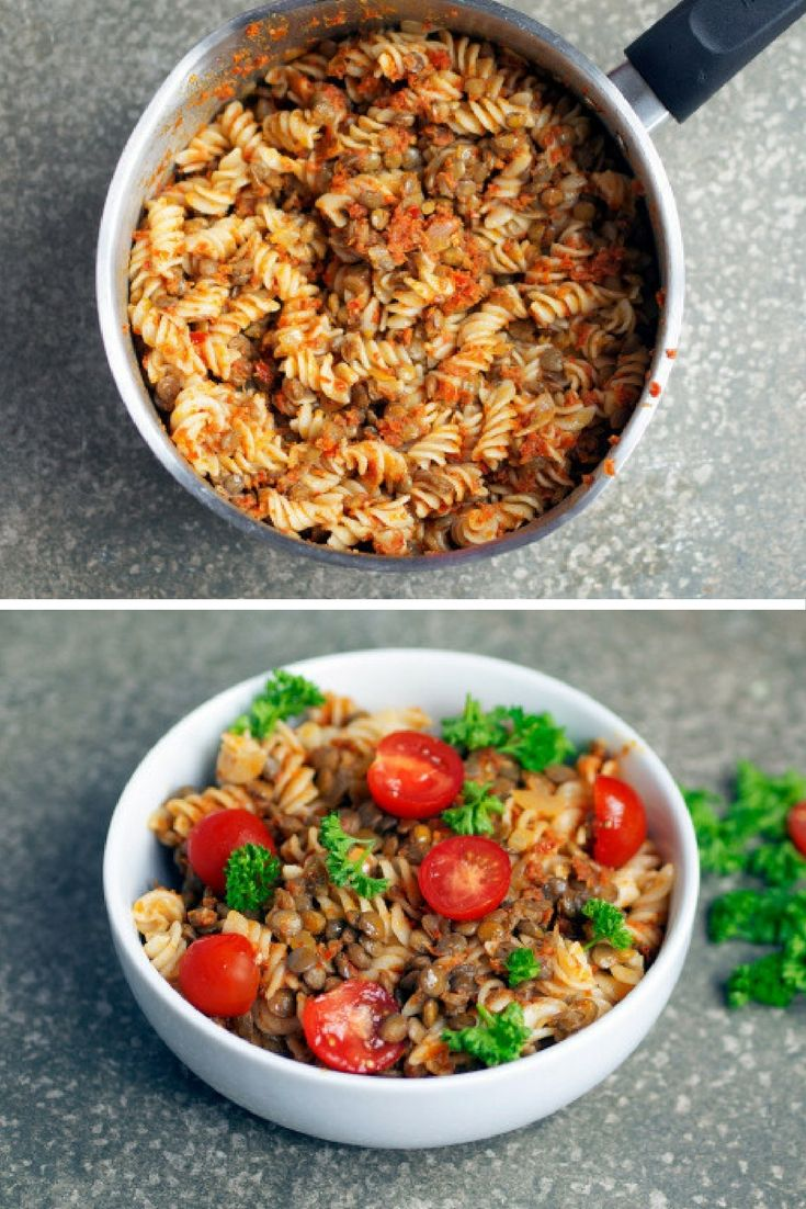 Lentils are a great source of protein as well as vital minerals, including iron, which some vegans can struggle to get sufficient amounts of into their diet.  Here's how to make this easy lentil pesto pasta dish.