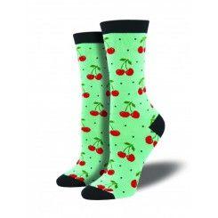 Women's Cherry Bamboo Socks