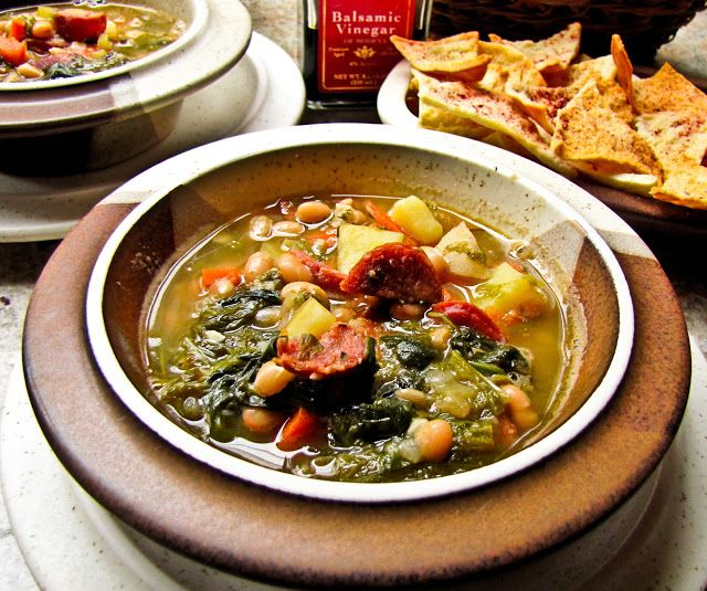 OnTheMove-In the Galley: Tuscan White Bean Soup- a variation