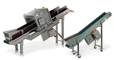 PLASTICON: Sistemas de cintas transportadoras para la instalación de detectores de metales para la protección de máquinas trituradoras..!