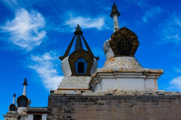 Stuppas, Monastère d'Erdenzuu, Mongolie