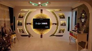 Image Result For ديكور شاشة تلفزيون جبس بورد Tv Wall Design Wall Tv Unit Design Arch Designs For Hall
