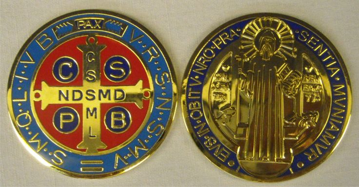Saint Benedict Medal. 5 cm. Contact us on info@tiemmecreazioni.it