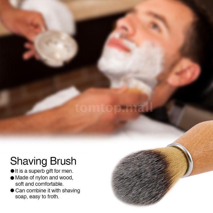 Male Shaving Brush Hair Knot Wet Shaver Shaving Brush Tool With Wood Handle K8U4 #UnbrandedGeneric