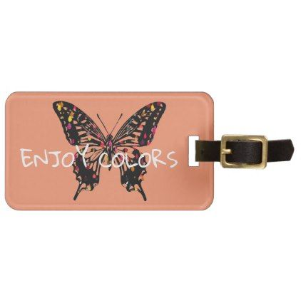 Colorful Butterfly Luggage Tag - gift for her idea diy special unique