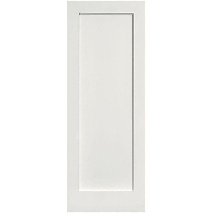 Masonite Crown Mdf Smooth 1 Panel Solid Core Primed Composite Prehung Interior Door 13905 At The