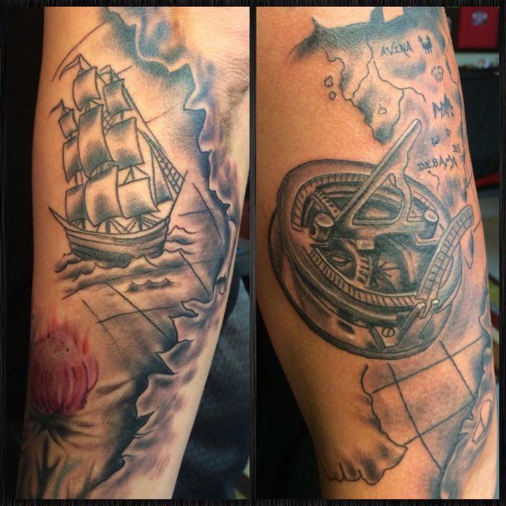 Scottish Themed Tattoos: Scottish/travel Themed Sleeve In Progress