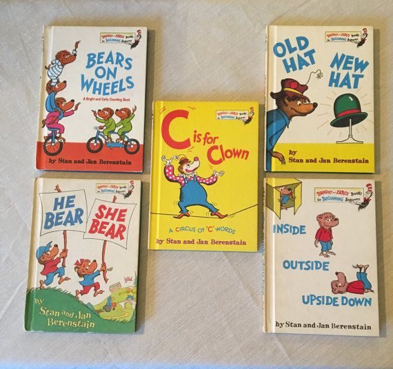 Set Of 5 Vintage Berenstain Bear Books Free By SilverSmiths