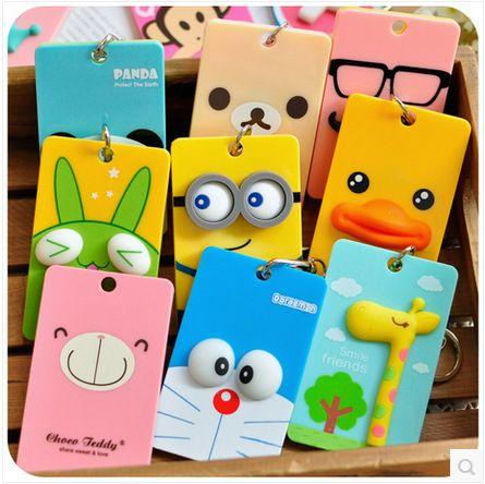 Porta-tarjetas PVC y Accesorios ID Tarjeta de Crédito titular de la tarjeta caja de tarjeta de Autobús de Dibujos Animados Doraemon secuaces Panda monster papelería