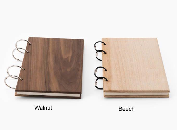 Wood Bound Notebook Walnut
