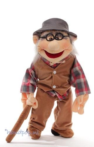 Opa Job, menspop 65 cm van Living Puppets bij Handpop.nl