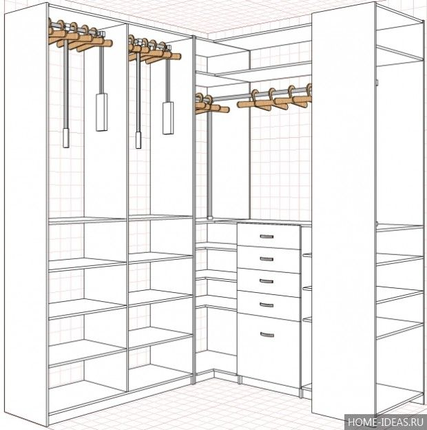 Гардеробные комнаты: дизайн проекты (фото), дизайн маленькой гардеробной в кладовке или спальне