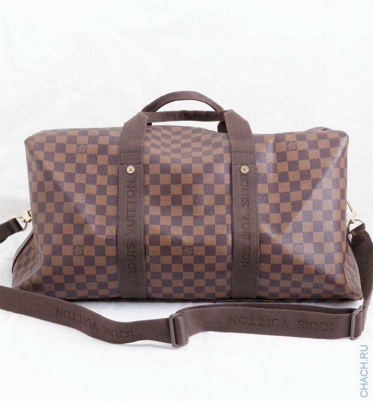 Дорожная сумка WEEKENDER BEAUBOURG GM DEC LOUIS VUITTON в коричневую клетку