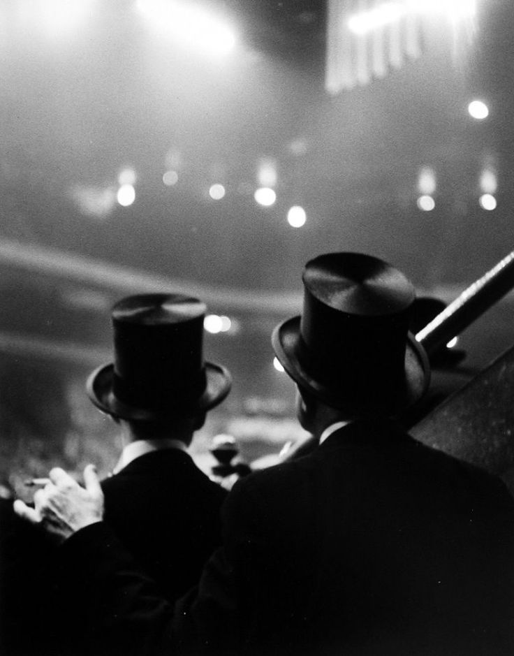 Top Hats, Horse Show, Old Madison Square Garden, 1947-48, photo by Ted Croner