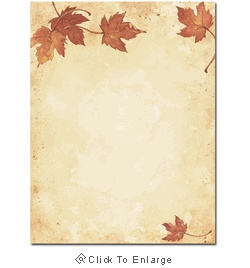 Fall Leaves Autumn Laser & Inkjet Printer Paper - $12.99