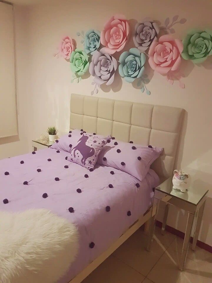 Unicorn Floral Bedroom For Tween Girl