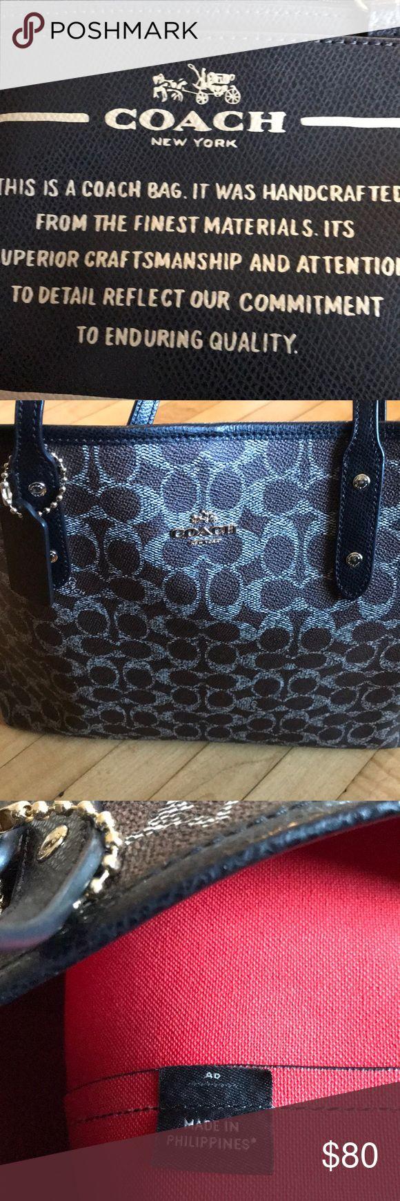 Coach tote bag Authentic coach tote brown orange inside Coach Bags Totes