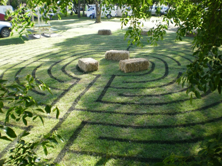 2nd line-marked labyrinth at Sustainable Living Expo, 2010, Armidale