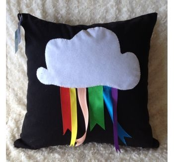 Cloud and Rainbow Cushion Cover