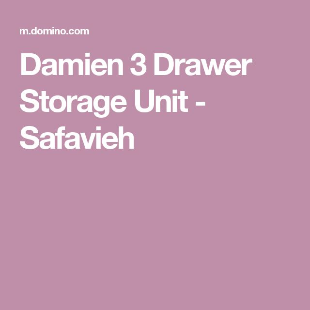 Damien 3 Drawer Storage Unit - Safavieh