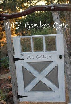 DIY Garden Gate cute, crafty eclectic!