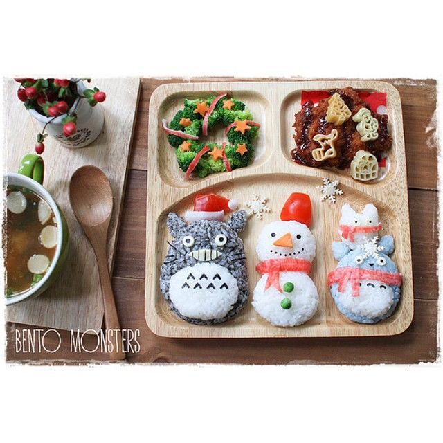 Totoro bento christmas lunch