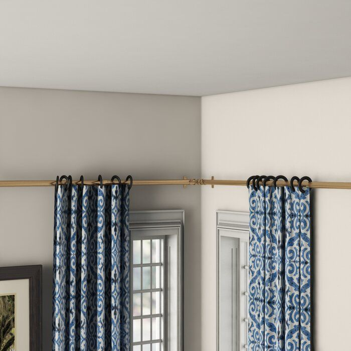 Loic Corner Single Rod Corner Window Curtains Corner Curtains Corner Window Treatments