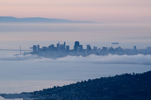 sf from the headlands... magically floating above the fog
