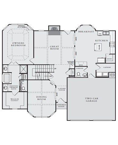 Gentry Plan at Hampton Oaks in Fairburn Georgia 30213 by Crown