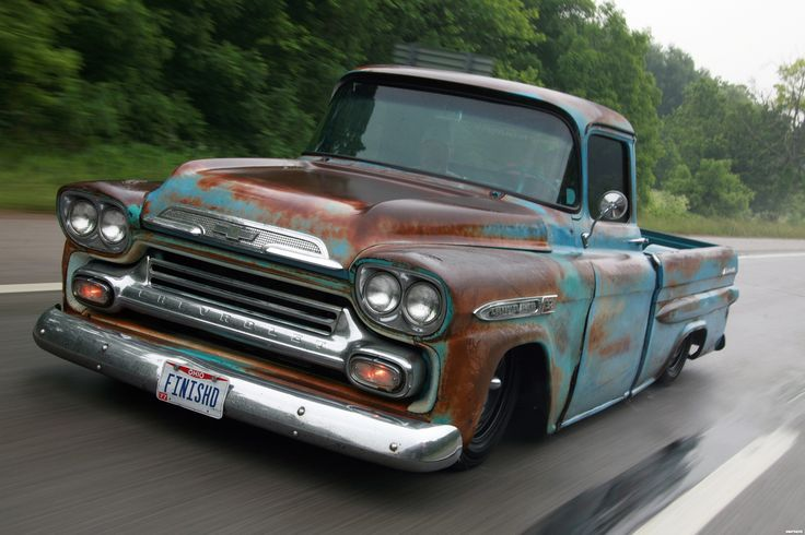 "The license plate on this fantastic Chevy Apache Fleetside truck answers the inevitable question: ""Are you going to restore it?"""