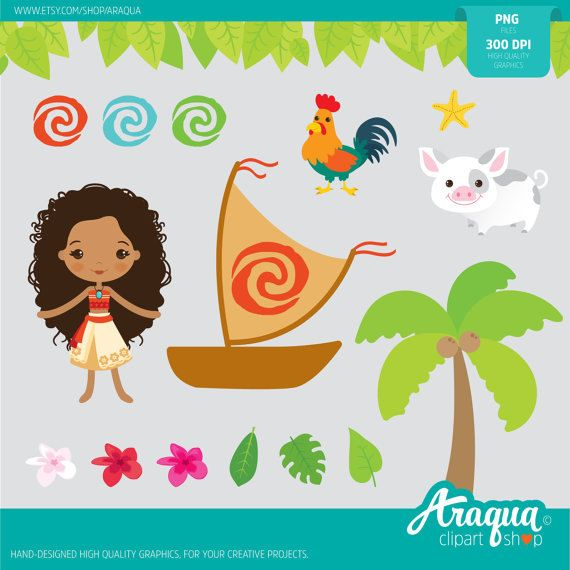 The Polynesian Princess Moana  Instant Download  PNG by araqua