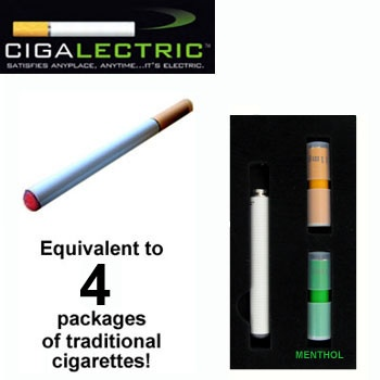 $85 Cigalectric(Tm) Electronic Rechargeable Cigarette Starter Kit