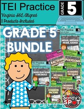 VIRGINIA SOL MATH TEI PRACTICE PRODUCTS BUNDLEIncludes 8 different productsThis BUNDLE includes 8 different products designed to provide practice for the TECHNOLOGY ENHANCED ITEMS that are a part of the Virginia SOL Math Test.  The products are not technology products but instead are created as cut and paste and shade to show items that encourage students to slow down and think through how the TEI items are set up and to think through the more rigorous content.SAVE AND BUY THE BUNDLETo…