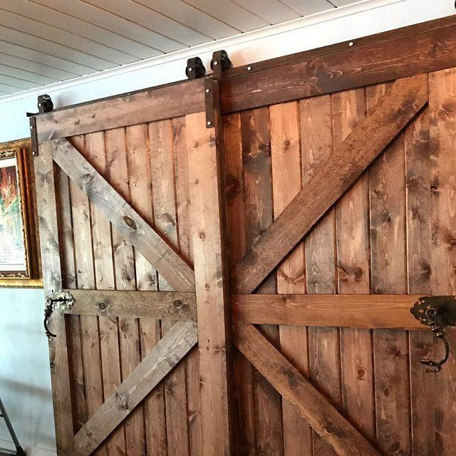 How To Make Your Own Barn Door Track Hardware Design The Life You Want To Live Home Doors Interior Interior Barn Doors