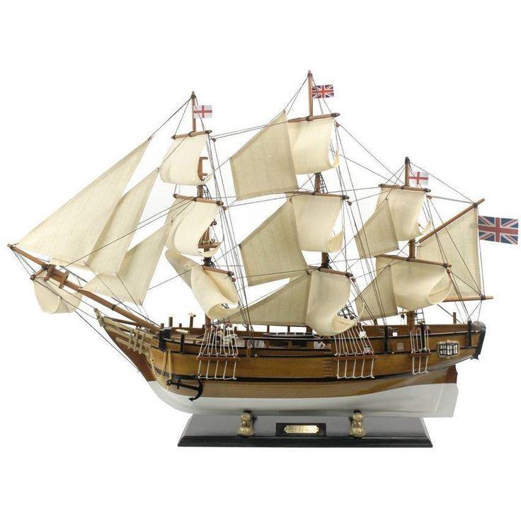 Wooden Charles Darwins HMS Beagle Limited Model Ship 34 inch