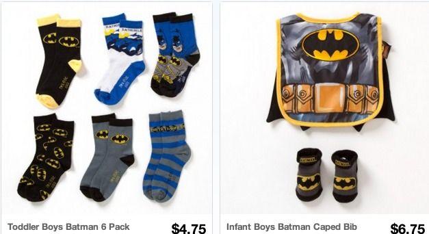 Batman OR Spiderman Socks Only $0.71 each Shipped (+ Cute Bib Capes!)