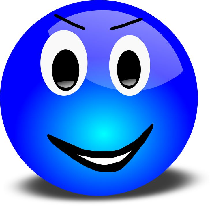 smiley face graphic free | Blue Smiley Face Clip Art