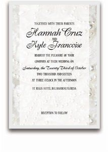 25 Rectangular Wedding Invitations - Wedding Dress Pearls by WeddingPaperMasters.com. $168.75. Now you can have it all! We have created, at incredible prices & outstanding quality, more than 300 gorgeous collections consisting of over 6000 beautiful pieces that are perfectly coordinated together to capture your vision without compromise. No more mixing and matching or having to compromise your look. We can provide you with one piece or an entire collection in a one stop shop...