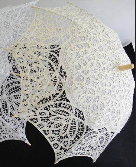 Traderaannons: parasoll spets