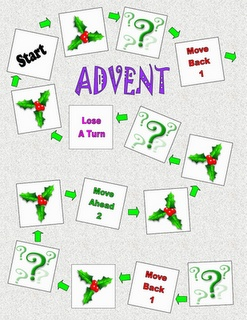 Advent Wreath (file folder game)- The object of the game is to color all of the Advent wreath correctly.