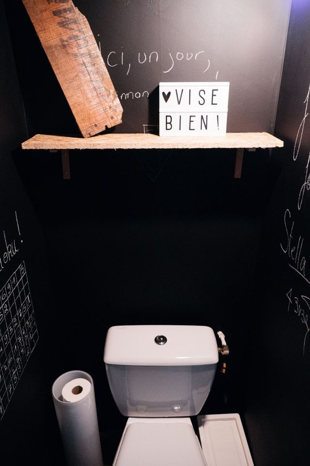 1000 ideas about am nagement wc on pinterest deco wc - Deco wc noir et blanc ...