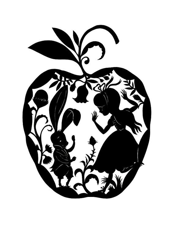 Alice in Wonderland. by elsita on Etsy. This is Alice in an apple. What's not to love?