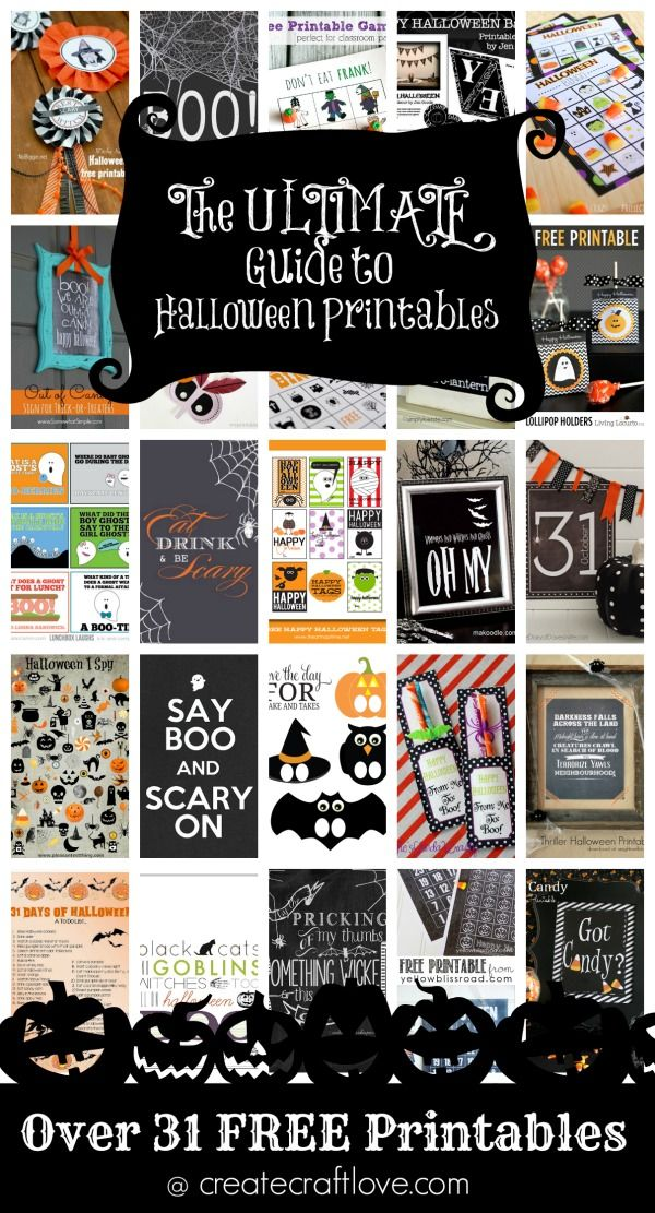 shopping clothes online uk The ULTIMATE Guide to Halloween Printables   over 31 FREE printables