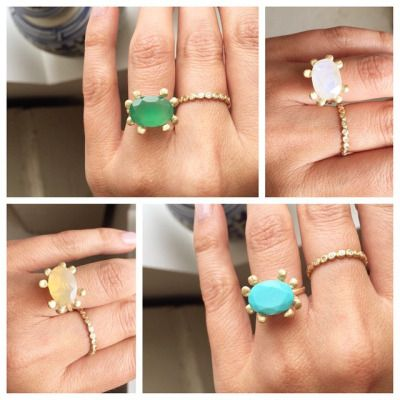 Loving these JPJ XL PRONG ring stone options #janepopejewelry #color #ring #love