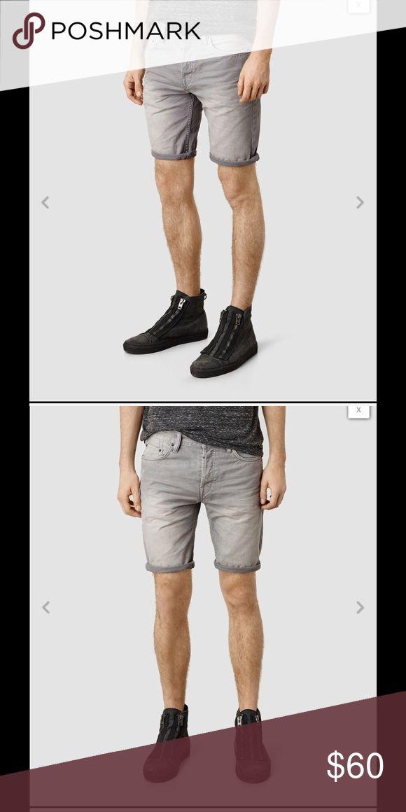 All Saints Asahi Switch Denim Shorts Grey size 30 AllSaints Asahi Switch Denim Shorts Grey size 30 100% cotton All Saints Shorts Jean Shorts