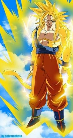 SSJ4 God Goku I like to think that's what this is.