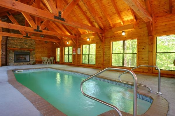 The Indoor Swimming Pool Sits Just 150 Feet From The Lodge And Next To The Chapel And Was Built